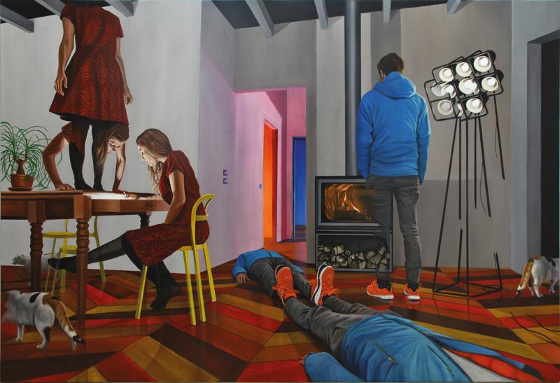 Dario Maglionico, Reificazione #47, 2018, oil on canvas, 170×250 cm