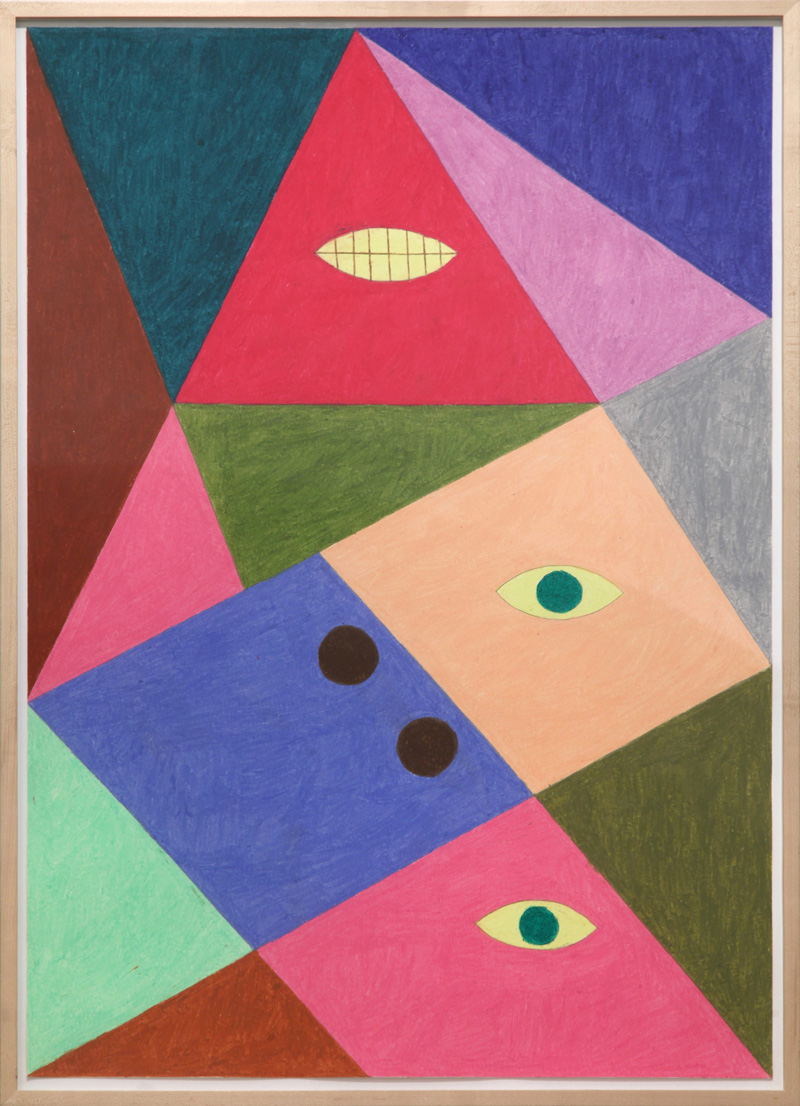 Christoph Ruckhaberle, Untitled 10, 2014, oil pastel on paper, 100×70 cm