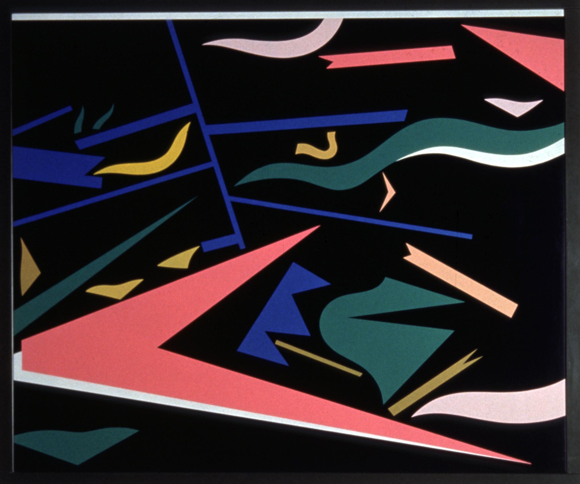 Alessandro Mendini, Untitled, nitro on wood, 75×90 cm
