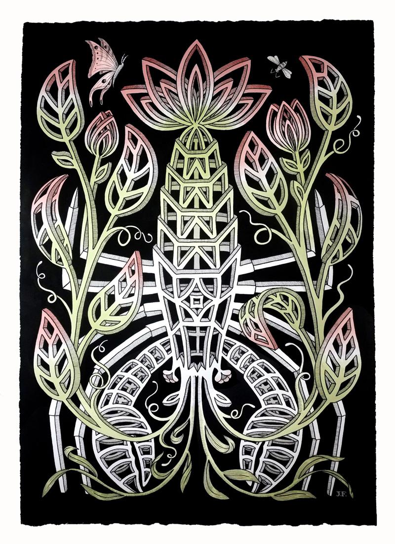 Jayde-Fish,–The-Hoyapod,-2018,-ink-on-paper,-104×75-cm