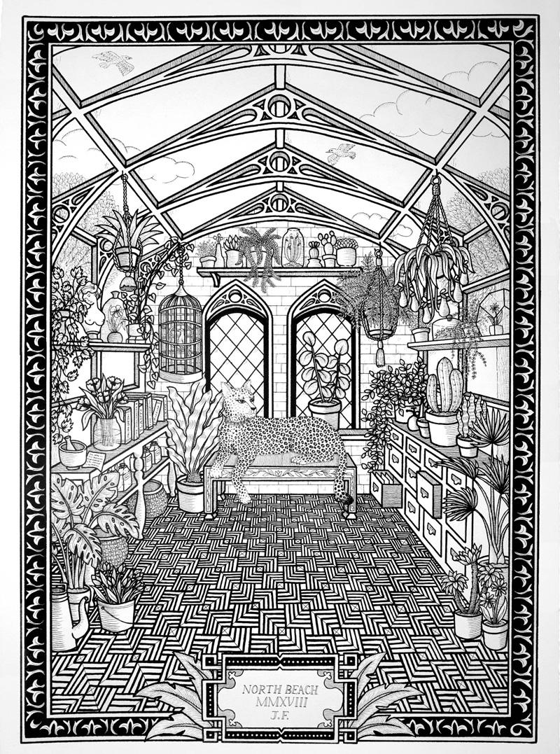 Jayde-Fish,-The-Jungalow,-2018,-ink-on-paper,-104×75-cm-alta