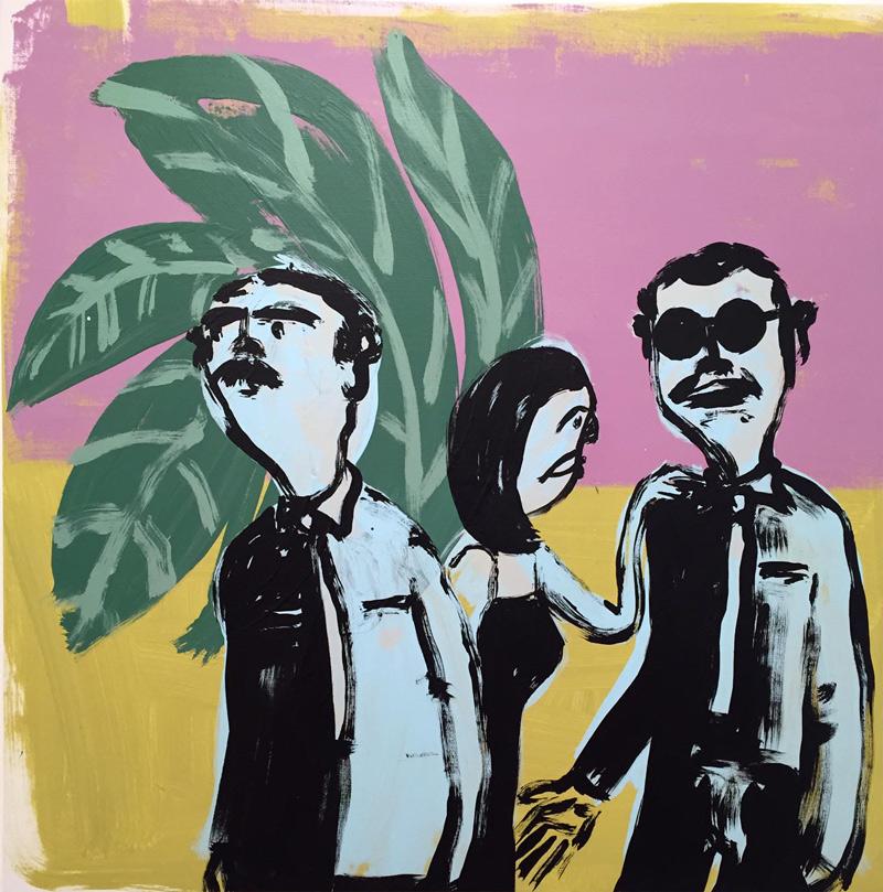 Russ-Pope, Hey, 2018, acrylic on canvas, 88×88 cm