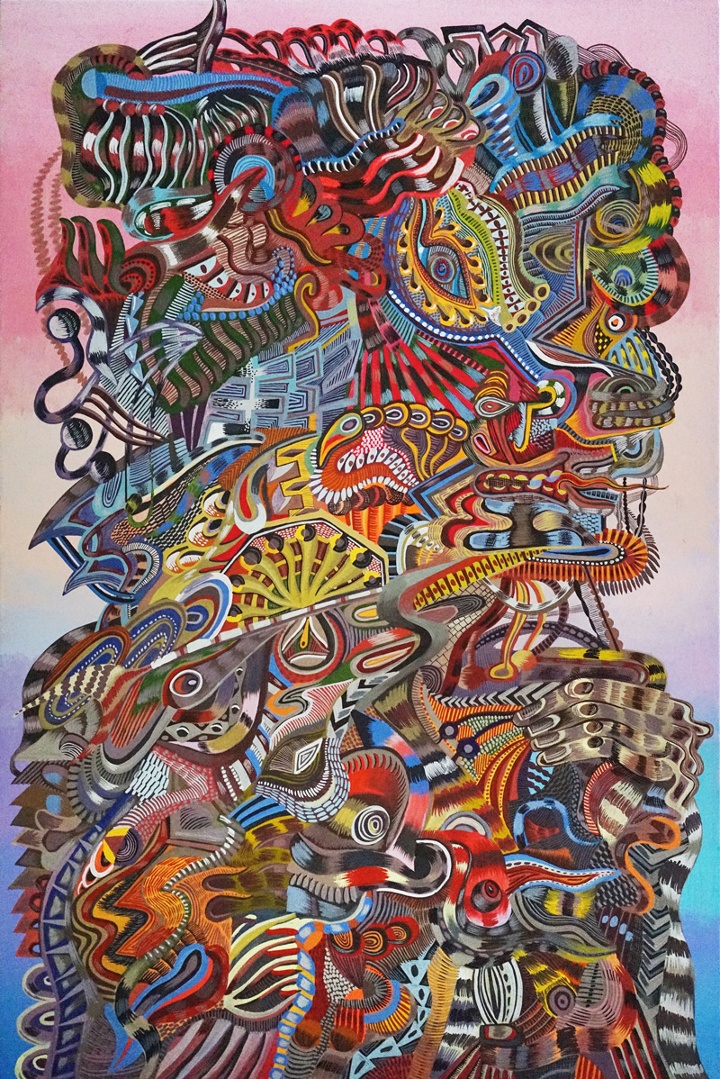 Zio-Ziegler,-Untitled,-2018,-acryilc-and-gouache-on-canvas,-91,5×61-cm