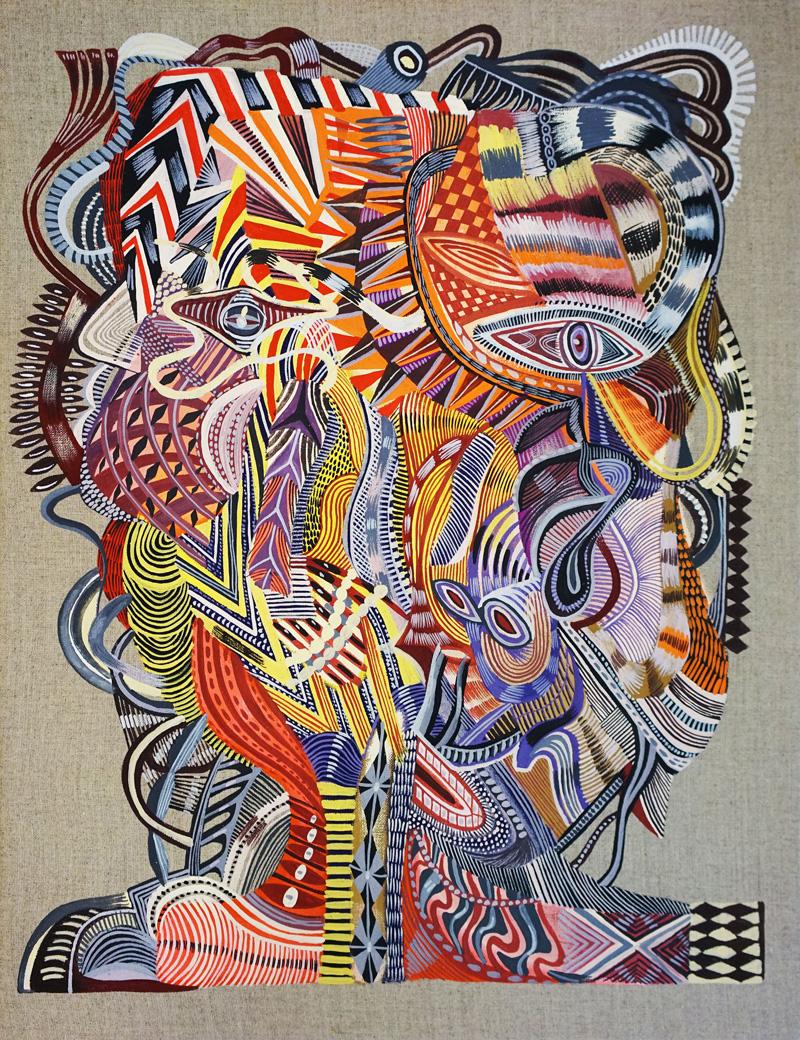 Zio-Ziegler,-Untitled,-2018,-gouache-on-canvas,-45x35cm