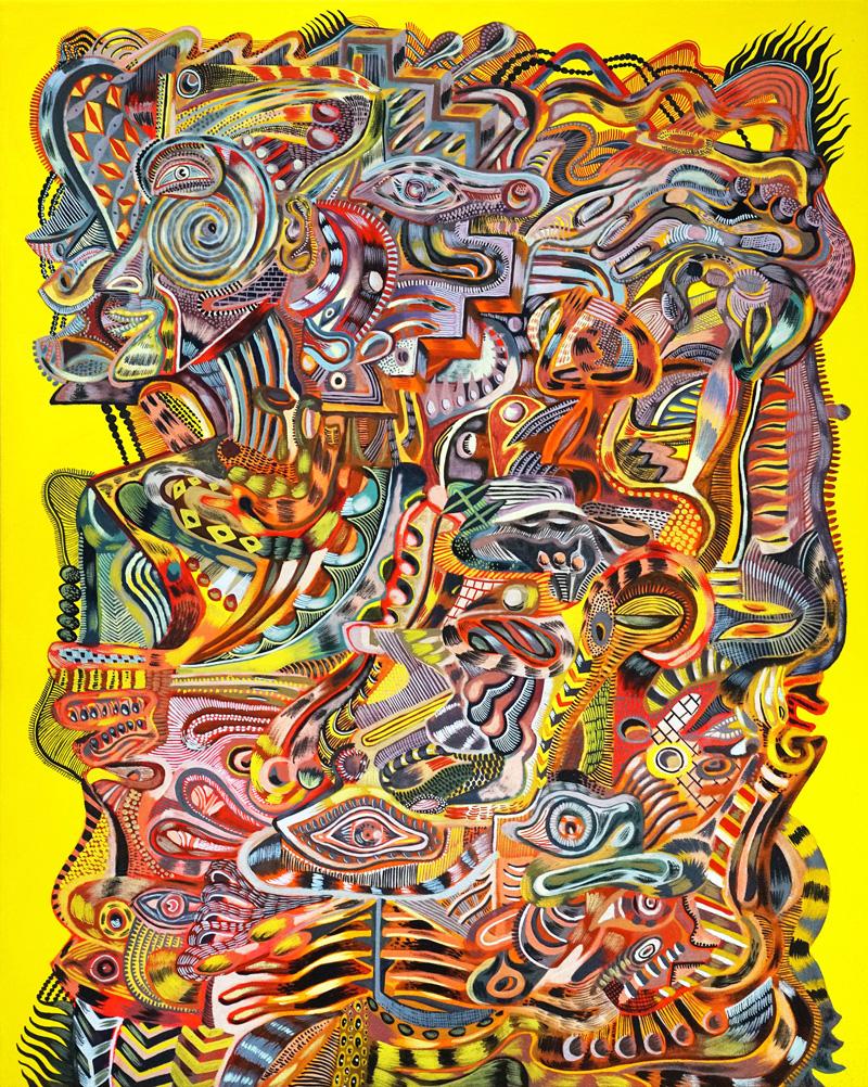 Zio-Ziegler,Graph-Theory,-2018,-gouache-and-flashe-on-canvas,-102×81-cm