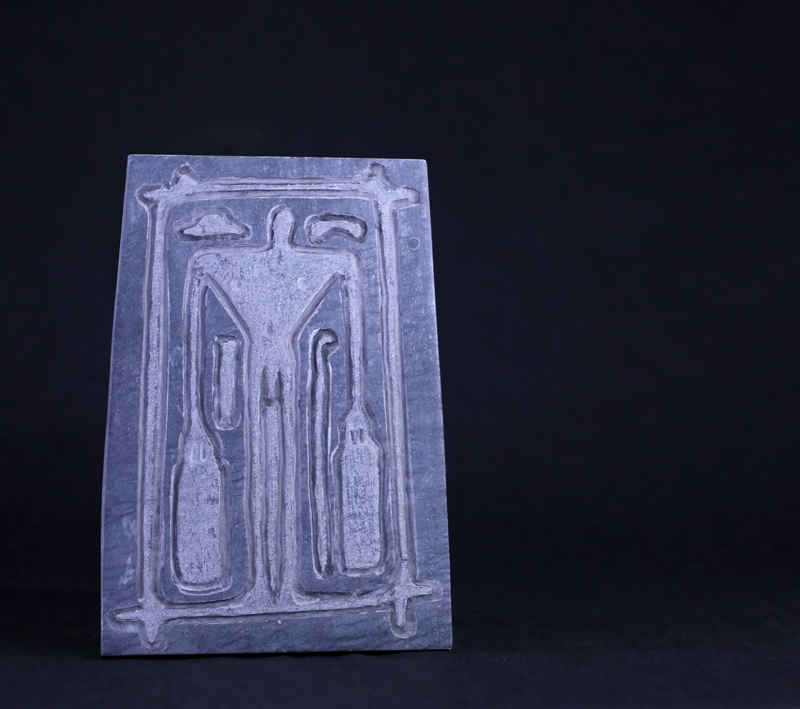 Andrea Branzi, marble, 35x25x1 cm, edition of 6