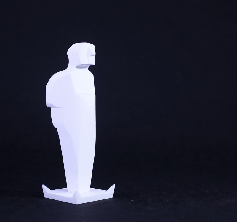 Carmelo Zocco, Umarell, resin, 12x12x35 cm, edition od 6