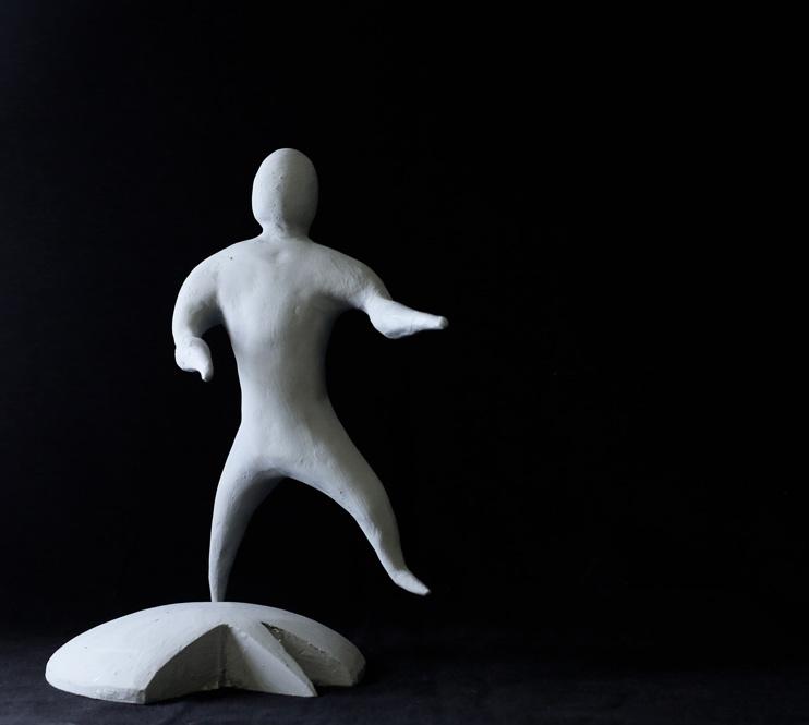 Lapo Binazzi, Fantasmino Danzante, clay, 23x23x35 cm, edition of 6