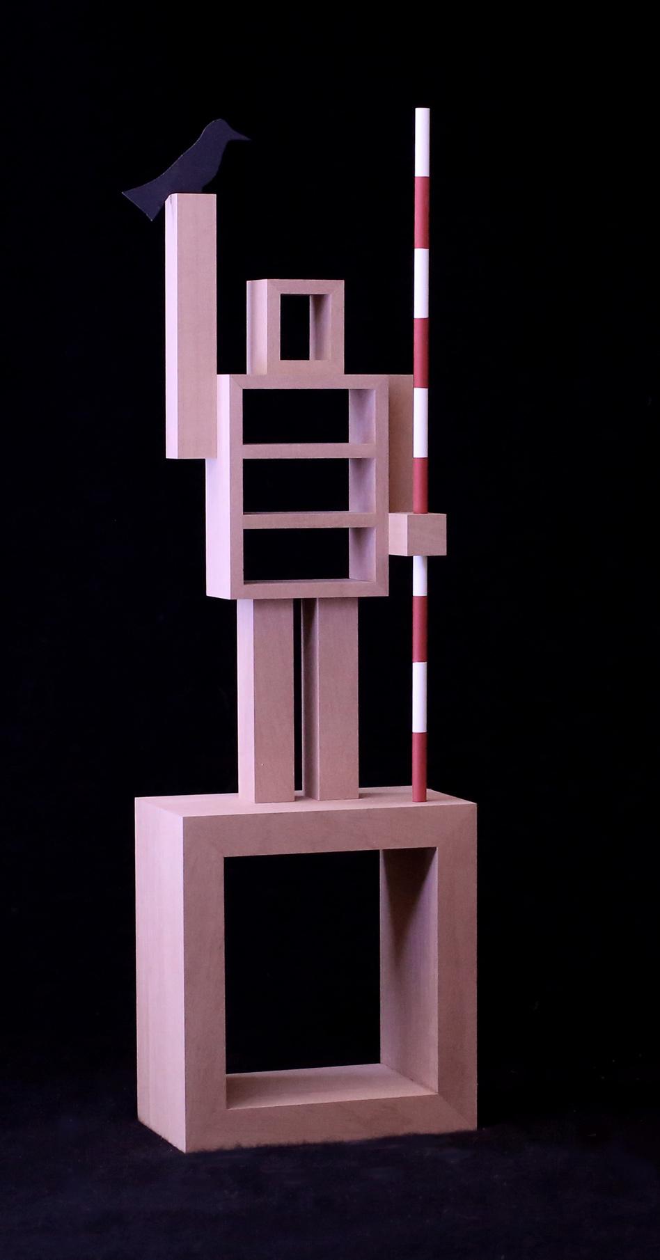 Robert u.Trix Haussmann, Uomo Architetto, wood, 35x12x8 cm, edition of 6