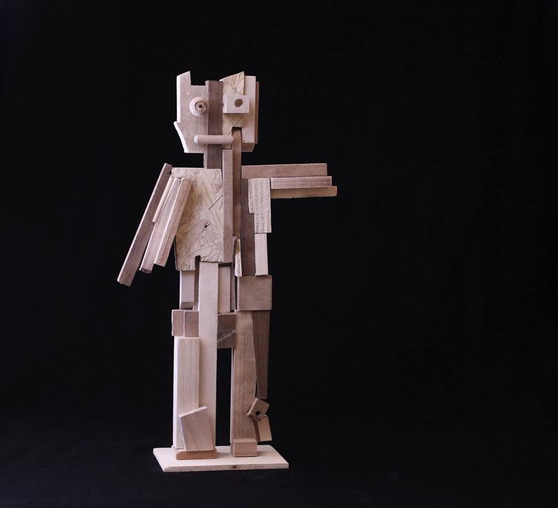 Stefano Albini, Recic Lare, wood, 20x10x38 cm