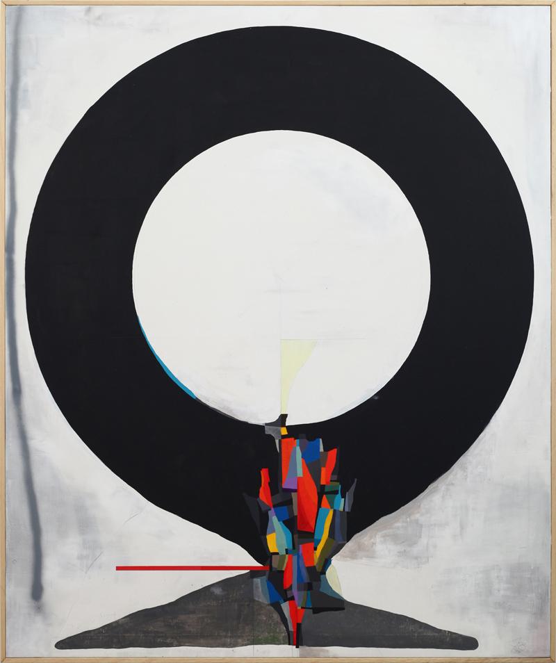 108, Zero, 2018, mixed media on canvas, 120×100 cm