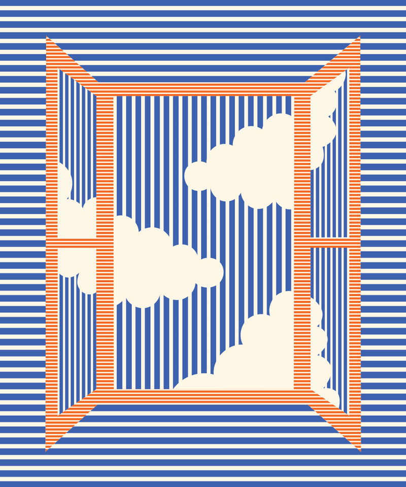 Olimpia Zagnoli, Bathroom window, 2019, limited edition of 8 giclee prints on Somerset Velvet, 60×50 cm