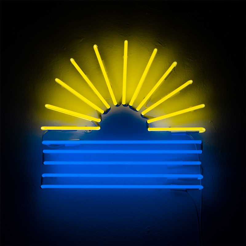 Olimpia Zagnoli, Talk to me Summer, 2019, neon, limited edition of 5, 50x55x5,5 cm