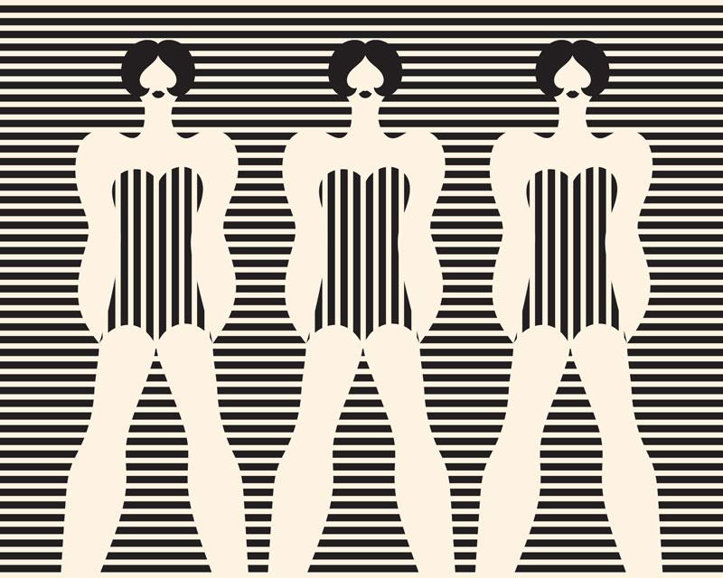 Olimpia Zagnoli, Three women, 2019, limited edition of 8 giclee prints on Somerset Velvet , 70×90 cm