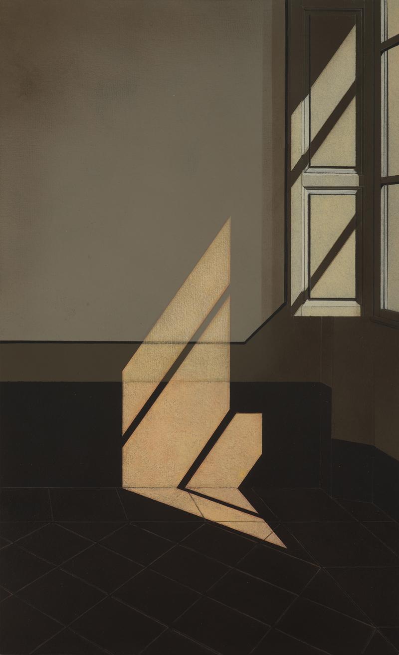 Arduino Cantafora, Interno II, 2016, olio su tavola, cm 50×30