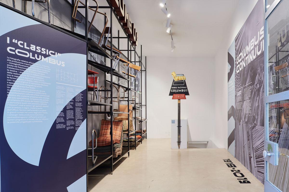 Columbus-Continuum.-Flessibili-Splendori,-Columbus-e-il-mobile-in-tubo-metallico,-installation-view,-photo-credit-Max-Rommel-(10)