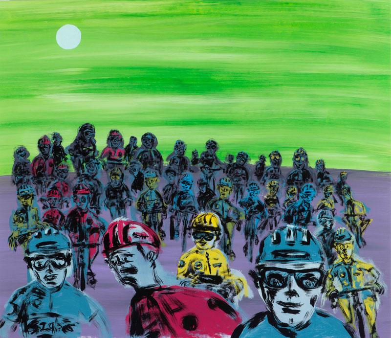 Russ Pope, Il gruppo, 2020, acrylic on canvas, 115 x 100 cm