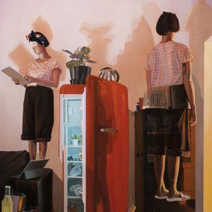 Dario Maglionico, Reificazione #52, Oil On Canvas, 147 X 101 Cm, 2018