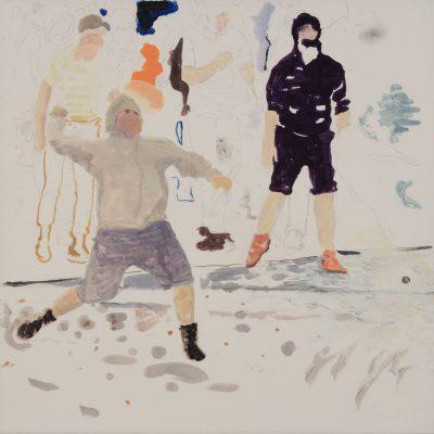 Andrea Salvino, La Guerre Est Finie, 2009, Tempera Su Carta Intelata, 60x60cm