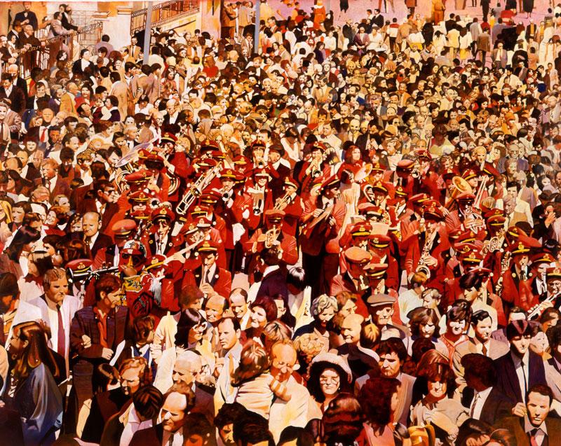 Francesco-Lauretta,-Rosso-sciantoso,-2003,-olio-su-tela,cm-174×213