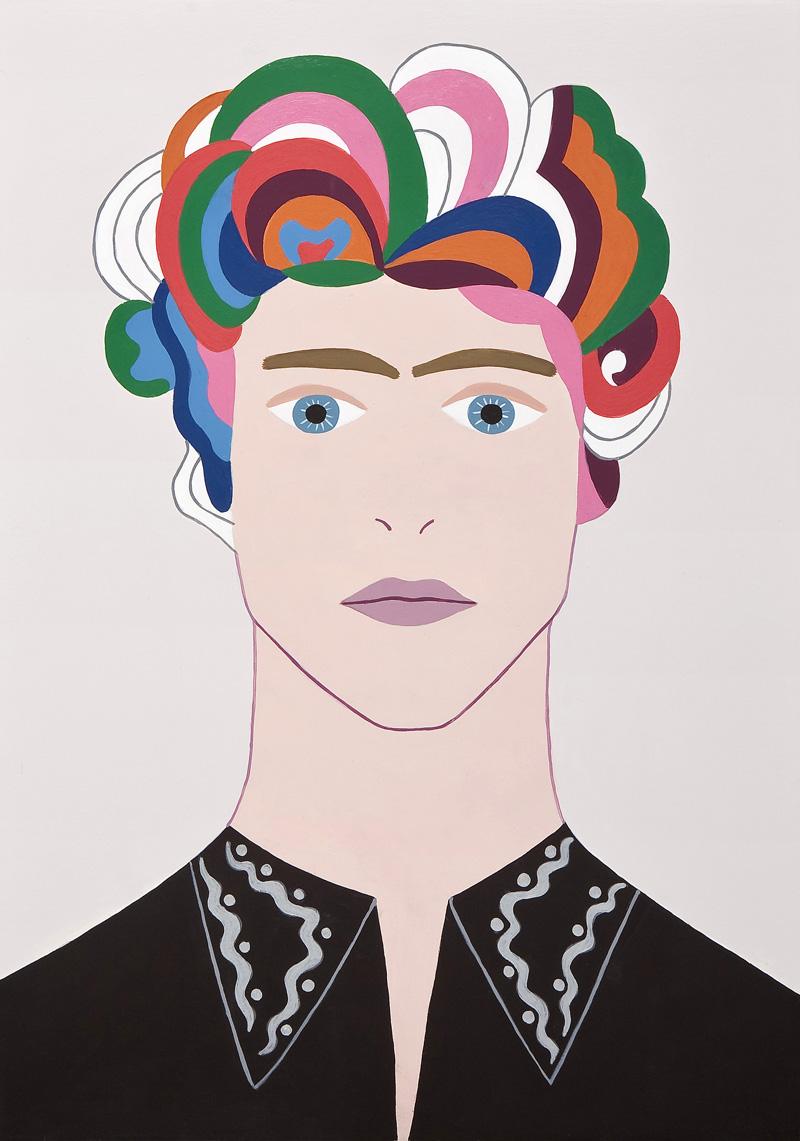 Fulvia-Mendini,-Bob-Dylan,-2011,-acrilici-su-tavola-di-legno,–33x23cm