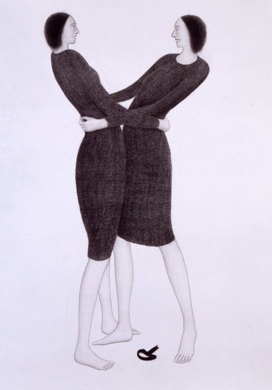 Giuliano Guatta,La levetta del sedile anteriore destro n.8, 2003,pastello su carta,cm 200×147