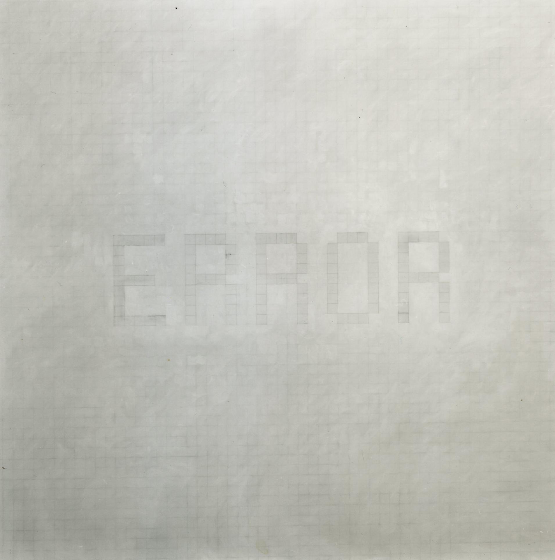 Pancrazzi, Error, 2000, grafite su carta su tela, 200×200 cm