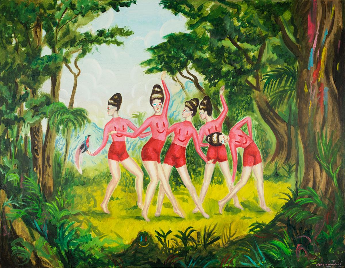 Sergio Mora, Savage Astrogirl, 2020, oil on canvas, 90x116 cm