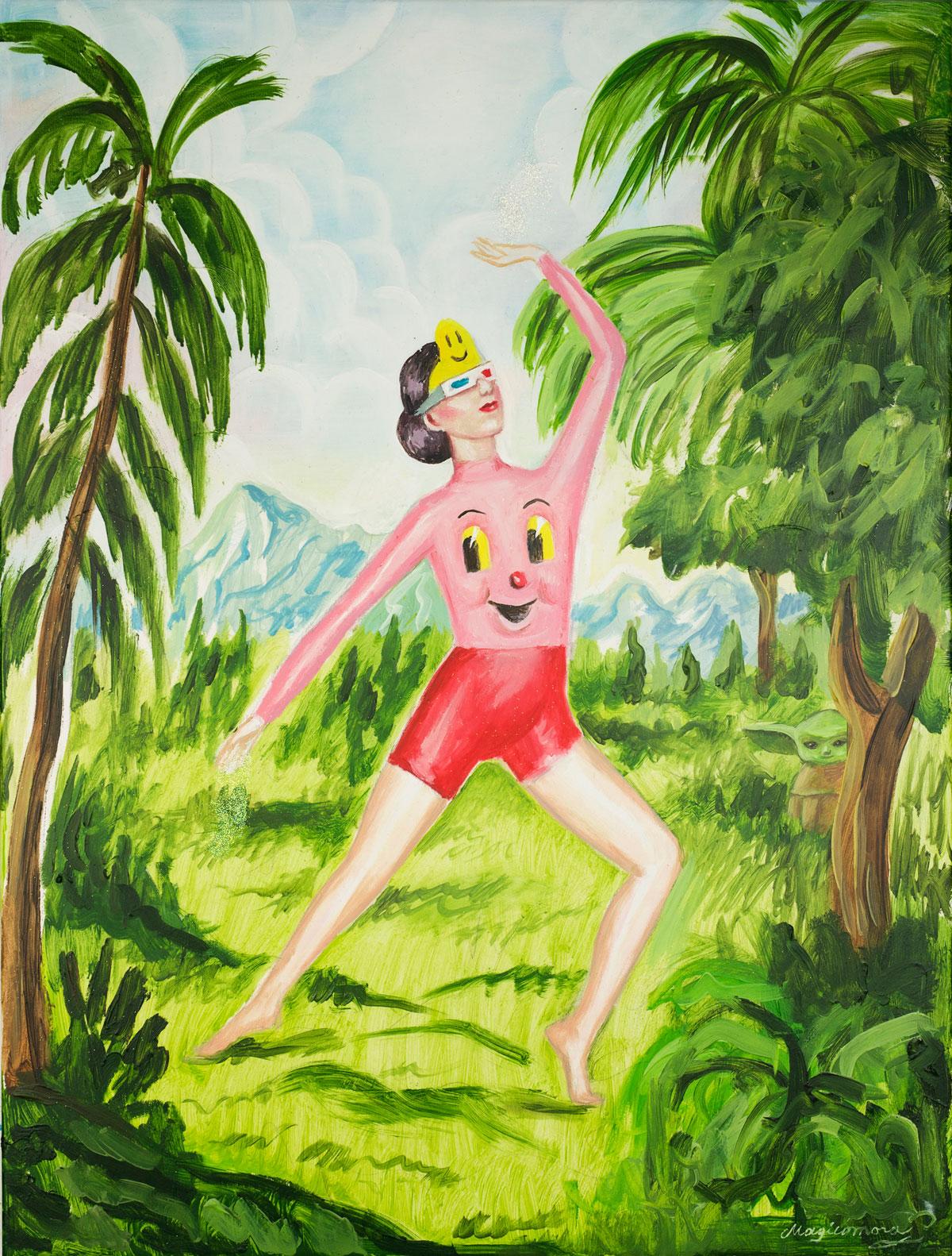 Sergio Mora, Space Dancer, 2020, oil on canvas, 61,5x46 cm