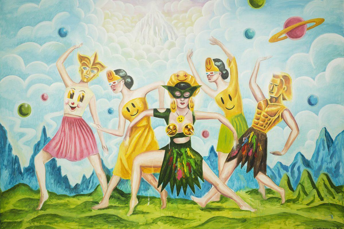 Sergio Mora, Supersonic Cosmic Dancers, 2020, Oil On Canvas, 150×200 Cm