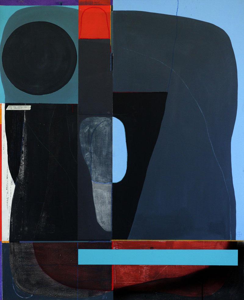 108, Ma che direzione, 2021, mixed media on canvas, 100 x 80 cm