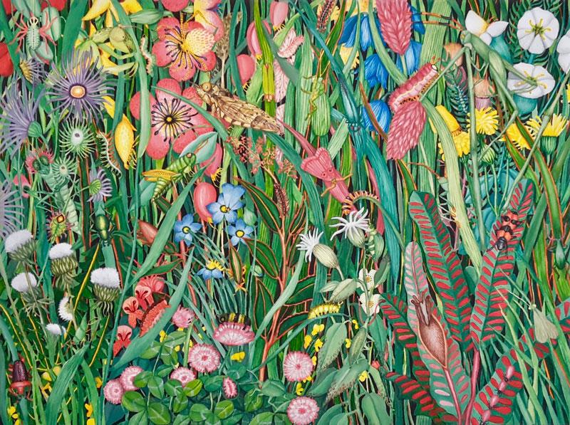 Berglind Svavardottir, Hide and Seek XXIII, 2020, acrylic on canvas, 60 x 80 cm