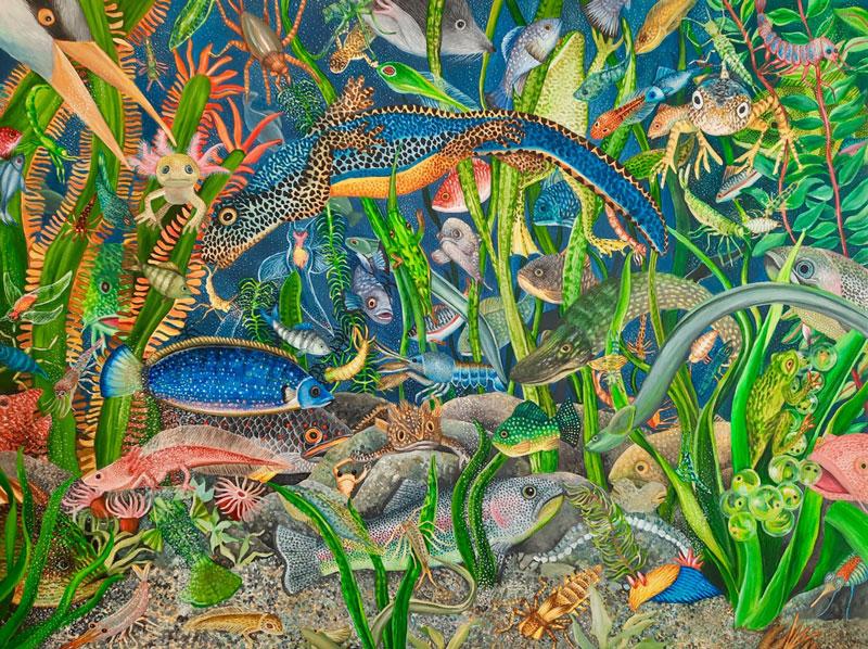 Berglind Svavardottir, Hide and Seek XXXV, 2021, acrylic on canvas, 60x80 cm
