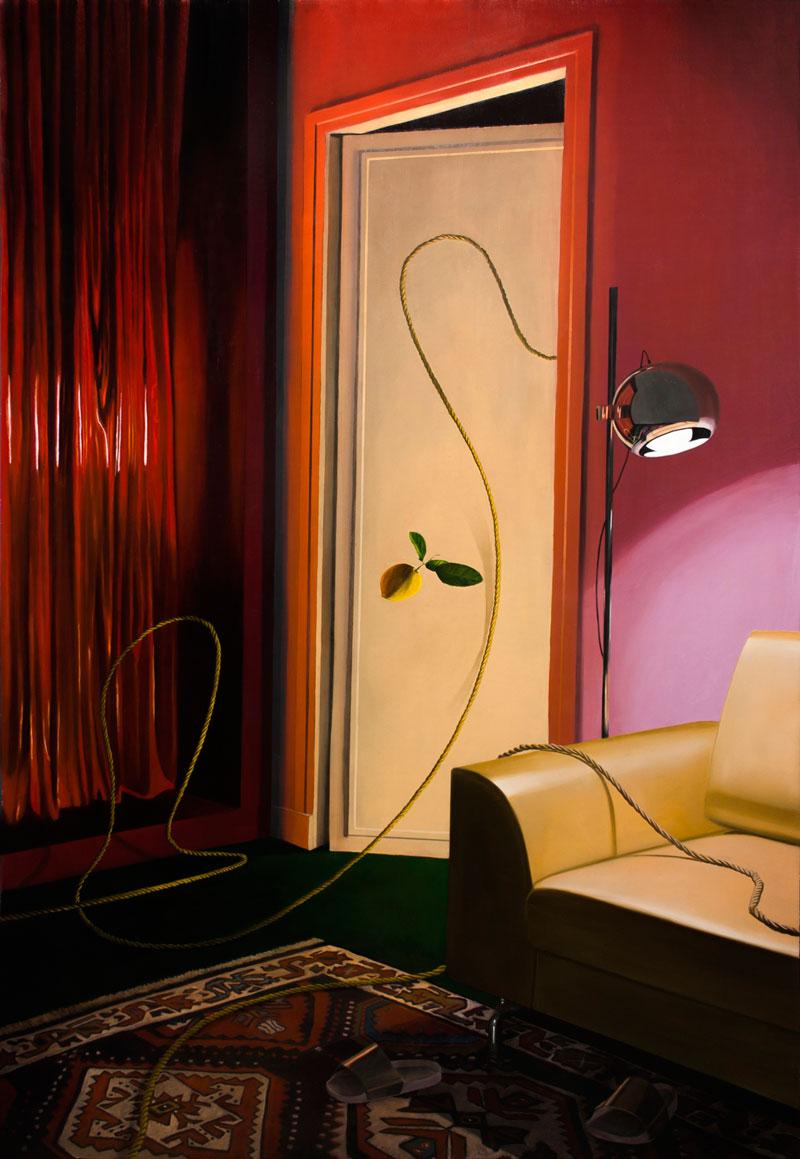 Dario Maglionico, Reificazione #78, 2021, oil on canvas, 190 x 130 cm