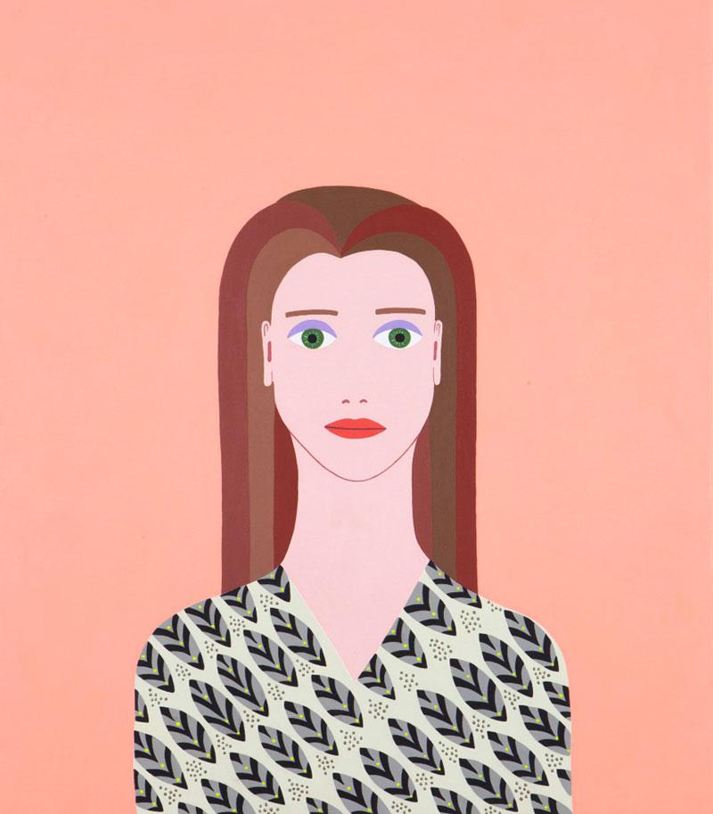 Fulvia-Mendini,-Afrodite,-2017,-acrylic-on-canvas,-69×60-cm