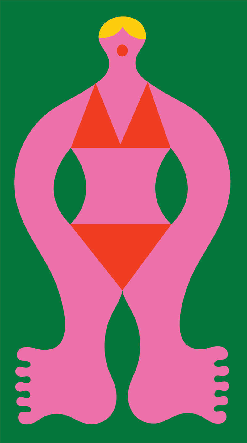 Olimpia Zagnoli, Indaba, 2021, giclée print on cotton paper, 40x71,5 cm
