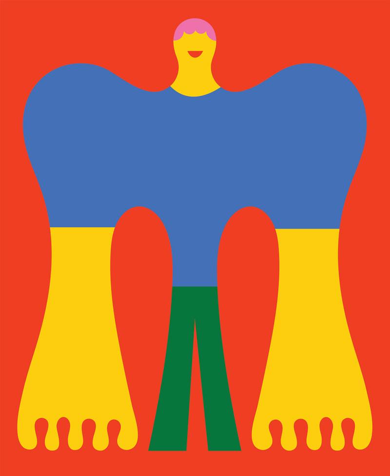 Olimpia Zagnoli, Indaba, 2021, giclée print on cotton paper, 50x61 cm