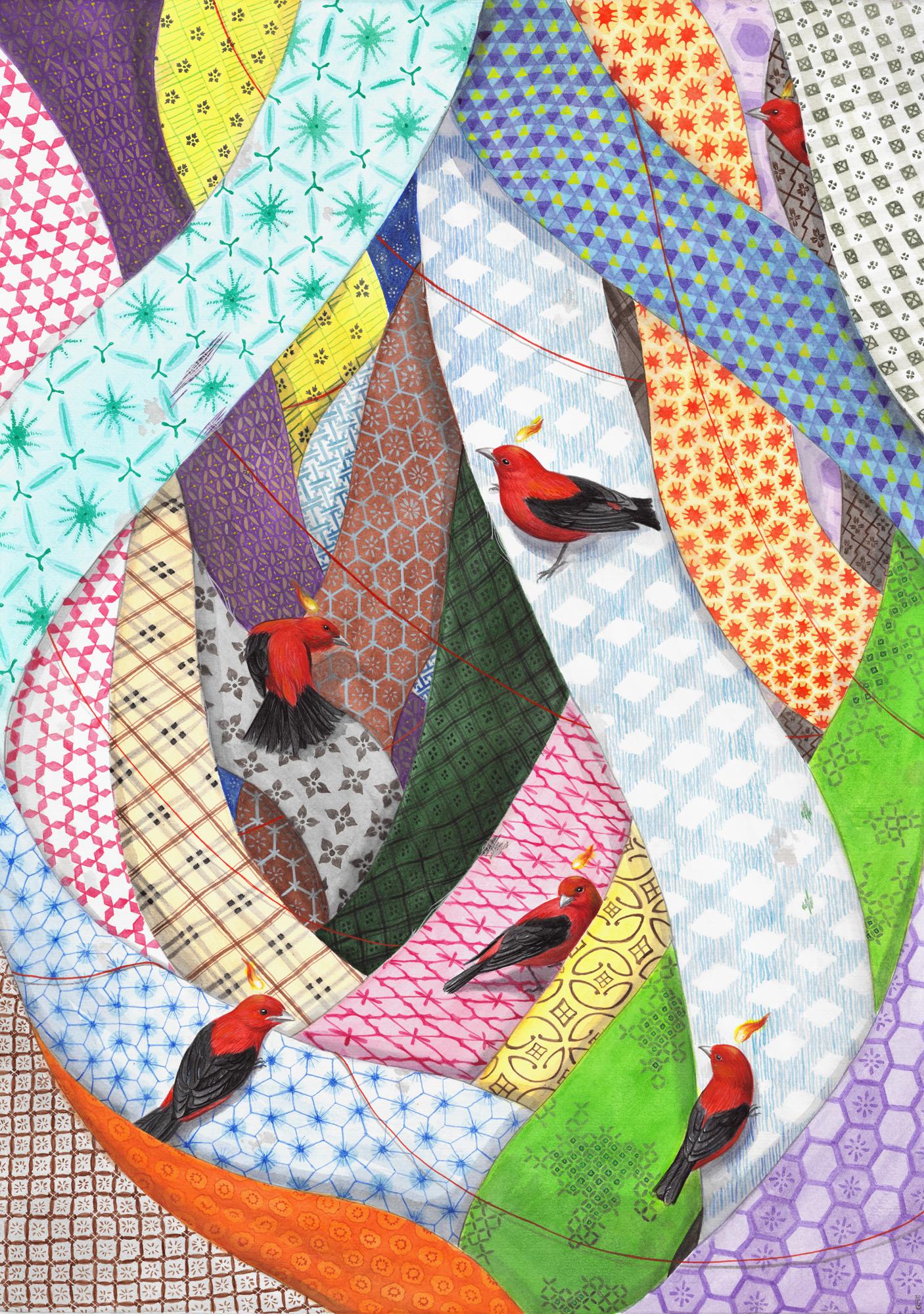 El Gato Chimney, Home, 2021, watercolor and gouache on cotton paper, 50×70 cm