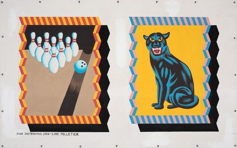 Luke-Pelletier,-Gutter-ball,-2016,-acrylic-on-canvas,-116×162-cm